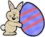 bunny with great big easter egg