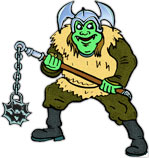 orc swinging a mace