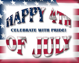 Happy 4th of July on the stars and stripes