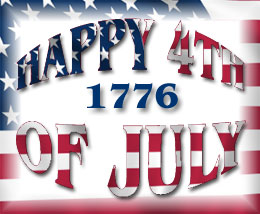 Happy 4th of July 1776 graphic