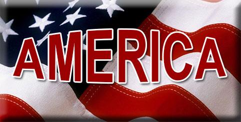 America on flag