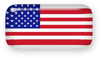 American Flag glass