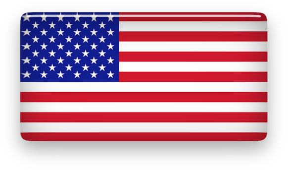 glassy American flag