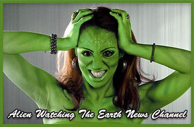 green girl alien