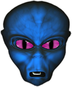 blue alien face