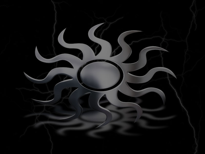 silver sun background