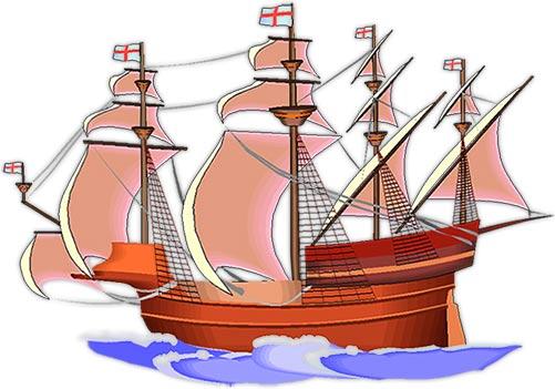 sailing ship at full sail