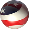 American Flag bullet
