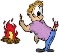 man starting a campfire jpg