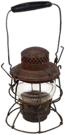 antique camping lantern