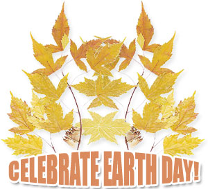 celebrate Earth Day with leaves