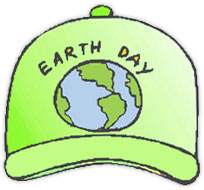 Earth Day hat in green