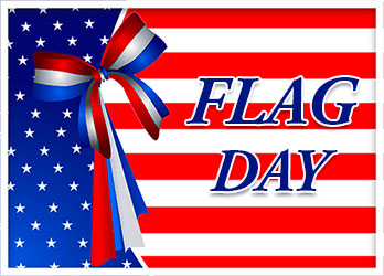Flag Day with ribbon