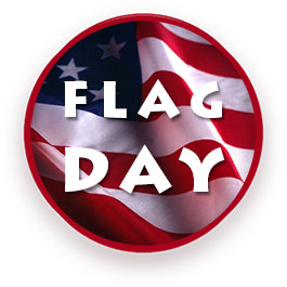 flag day on round flag