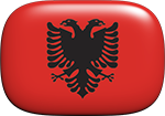 Albanian button rectangular