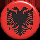 round Albanian button