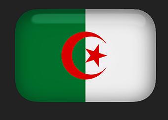 Algerian Flag clipart