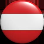 round Austria button clipart