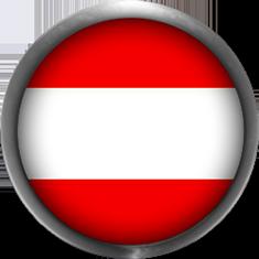 Austria Flag button with metal trim