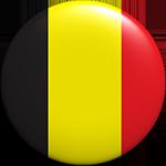 Belgium flag button round