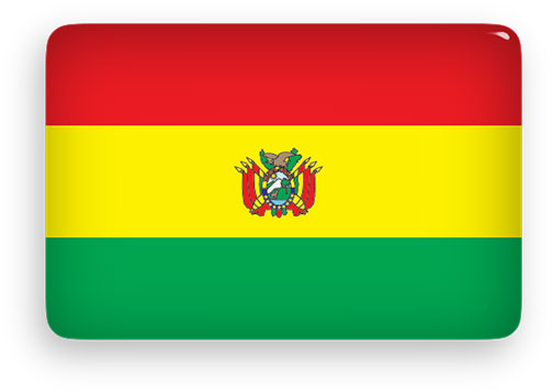 Bolivia flag button rectangular