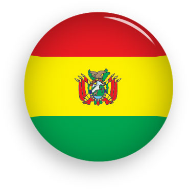 Bolivia button round