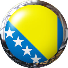 bosnia and herzegovina round clipart with metal trim