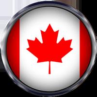 Canada Flag round