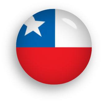 round Chile flag button