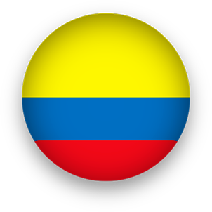 Colombia Flag button round
