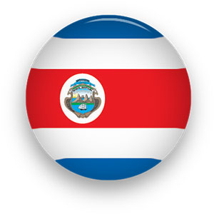 Costa Rican flag button
