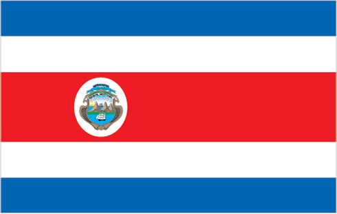 large Costa Rica flag
