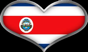 Costa Rica heart