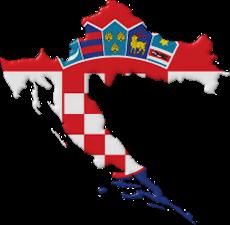 Croation map flag