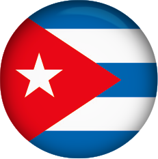 Cuban Flag button