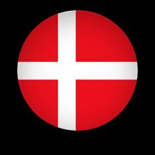 Denmark Flag button round