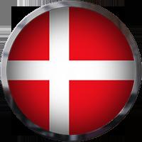 Denmark Flag button with trim