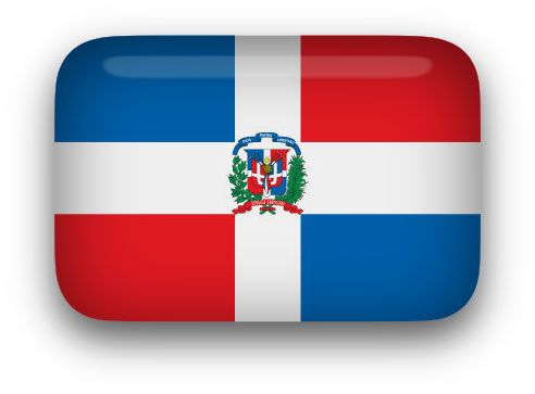 Dominican Flag clipart