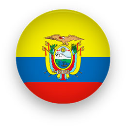 Ecuador Flag button round