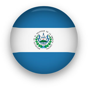 El Salvador button round