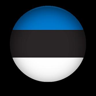 Estonia Flag button round