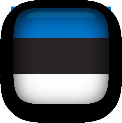 Estonia Flag button square