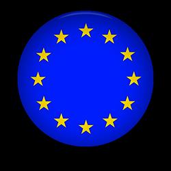 European Union round button
