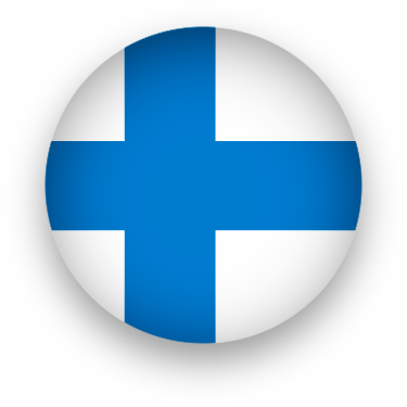 Finland Flag button round