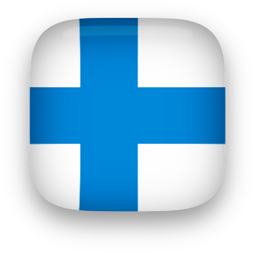 Finland button square