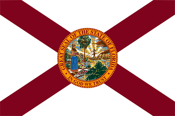large Florida State flag
