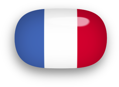 French Flag oval