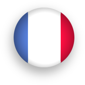 round button French Flag
