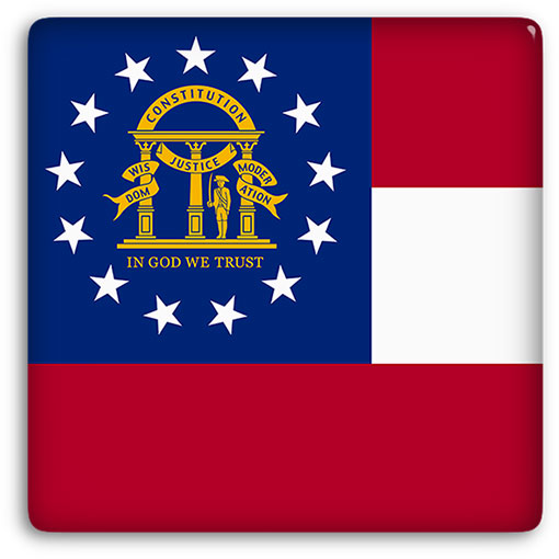 large Georgia flag button