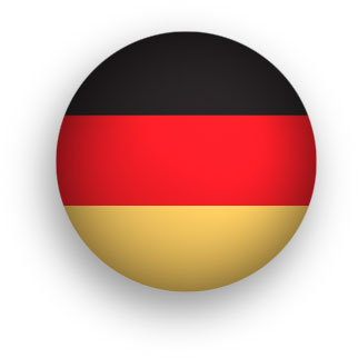 round German flag button